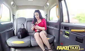 Fake Taxi Huge meaty pussy lips hang over